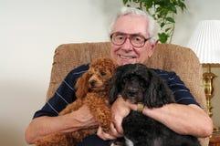 lyckligt hans pups arkivbilder