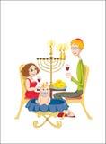 lyckligt judiskt för familj Arkivfoto