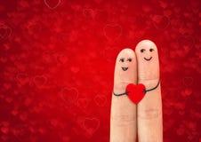 Lyckligt koppla ihop förälskat Arkivfoton