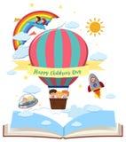 Lyckligt kort för dag för barn` s royaltyfri illustrationer