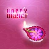 Lyckligt kort för Diwali vektordesign Arkivbilder