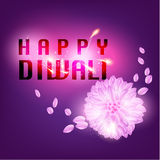 Lyckligt kort för Diwali vektordesign Arkivbild