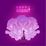Lyckligt kort för Diwali vektordesign Royaltyfri Foto