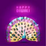 Lyckligt kort för Diwali vektordesign Royaltyfri Fotografi