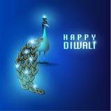 Lyckligt kort för Diwali vektordesign Royaltyfria Bilder