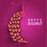Lyckligt kort för Diwali vektordesign Arkivfoto