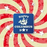 Lyckligt kort för hälsning för columbus dag Arkivbilder