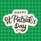 Lyckligt kort för hälsning för dag för St Patrick ` s Fotografering för Bildbyråer
