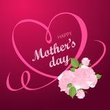 Lyckligt kort för hälsning för dag för moder` s Royaltyfria Foton