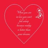 Lyckligt kort för hälsning för dag för valentin` s på röd bakgrund Royaltyfria Bilder
