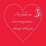 Lyckligt kort för hälsning för dag för valentin` s på röd bakgrund Royaltyfri Foto