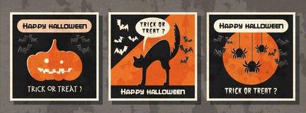 Lyckligt kort för hälsning för halloween vektorillustration Royaltyfri Fotografi