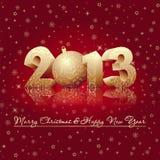 Lyckligt kort för nytt år Royaltyfri Fotografi