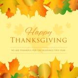 Lyckligt kort för tacksägelsedaghälsning vektor för ferie för hälsning för guld för bakgrundskortblomma royaltyfri illustrationer