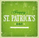 Lyckligt kort för tappning för dag för St Patrick ` s Fotografering för Bildbyråer
