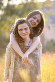 lyckligt kvinnabarn royaltyfri fotografi