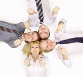 lyckligt lag för affärskollegor arkivbild