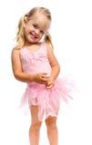 lyckligt le för balettflicka royaltyfria foton