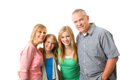 lyckligt le för familj Arkivbilder