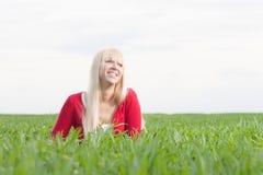 Lyckligt le för kvinna Royaltyfria Foton