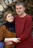 lyckligt le för par Royaltyfri Foto