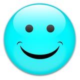 lyckligt leende för emblemknapp Arkivfoton