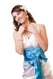 lyckligt leende för fantastisk brud Royaltyfri Fotografi