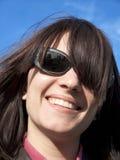 lyckligt leende för flicka Arkivfoton