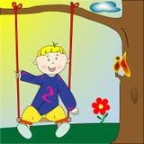 lyckligt leka för pojke Royaltyfria Foton
