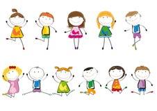 lyckligt leka för ungar Arkivbild
