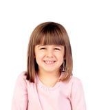 Lyckligt litet le för flicka Royaltyfria Foton
