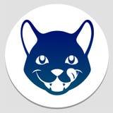 Lyckligt matat kattsymbol royaltyfri illustrationer