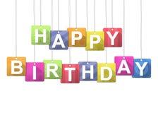 lyckligt meddelande för födelsedag Fotografering för Bildbyråer