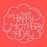 Lyckligt moders kort för dag vektor illustrationer