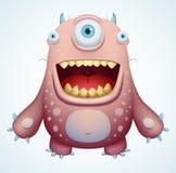 lyckligt monster stock illustrationer