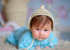 lyckligt nyfött för barn Fotografering för Bildbyråer