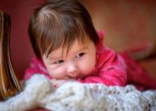lyckligt nyfött för barn Arkivbilder