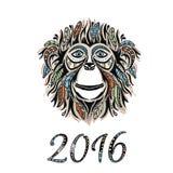 Lyckligt nytt år 2016 År av apan Royaltyfria Bilder