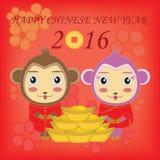 Lyckligt nytt år! Året av apan Royaltyfri Bild