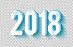 Lyckligt 2018 nytt år stock illustrationer