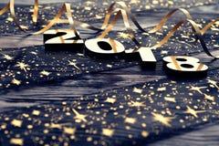 Lyckligt nytt år 2018 Arkivfoton