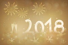 Lyckligt nytt år - 2018 Arkivfoto