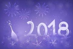 Lyckligt nytt år - 2018 Royaltyfri Bild