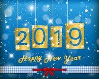 Lyckligt nytt år 2019 Arkivbild
