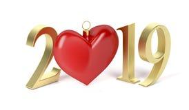 Lyckligt nytt år 2019 Vektor Illustrationer
