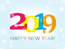 Lyckligt nytt år 2019 royaltyfri illustrationer
