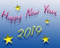 Lyckligt nytt år 2019 stock illustrationer