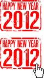 Lyckligt nytt år 2012 royaltyfri illustrationer