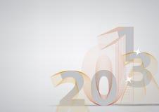 Lyckligt nytt år 2013 vektor illustrationer