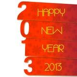 Lyckligt nytt år 2013 Fotografering för Bildbyråer